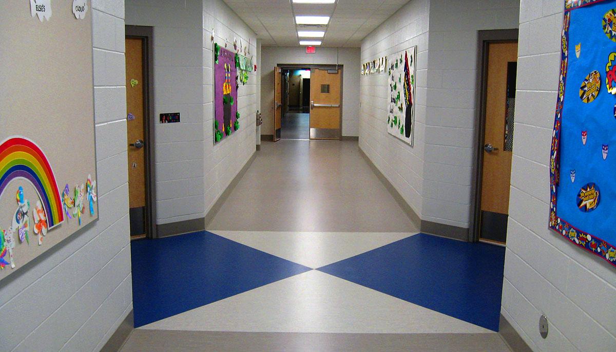 Cass ISD brookside hallway