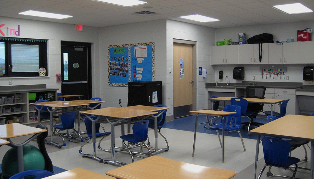 Cass ISD Brookside inside classroom