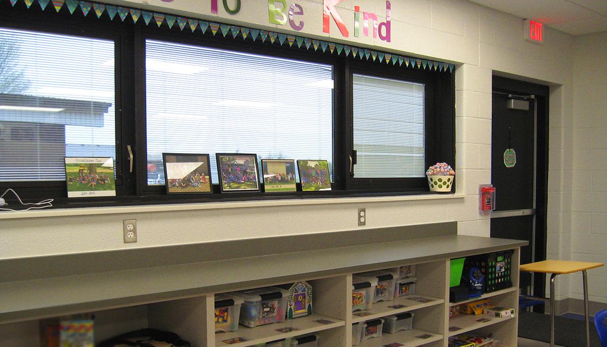 Cass ISD Brookside classroom window