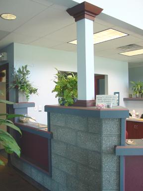 Lake Area Veterinary counter