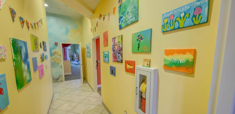 A Rosie Place for Children art hallway