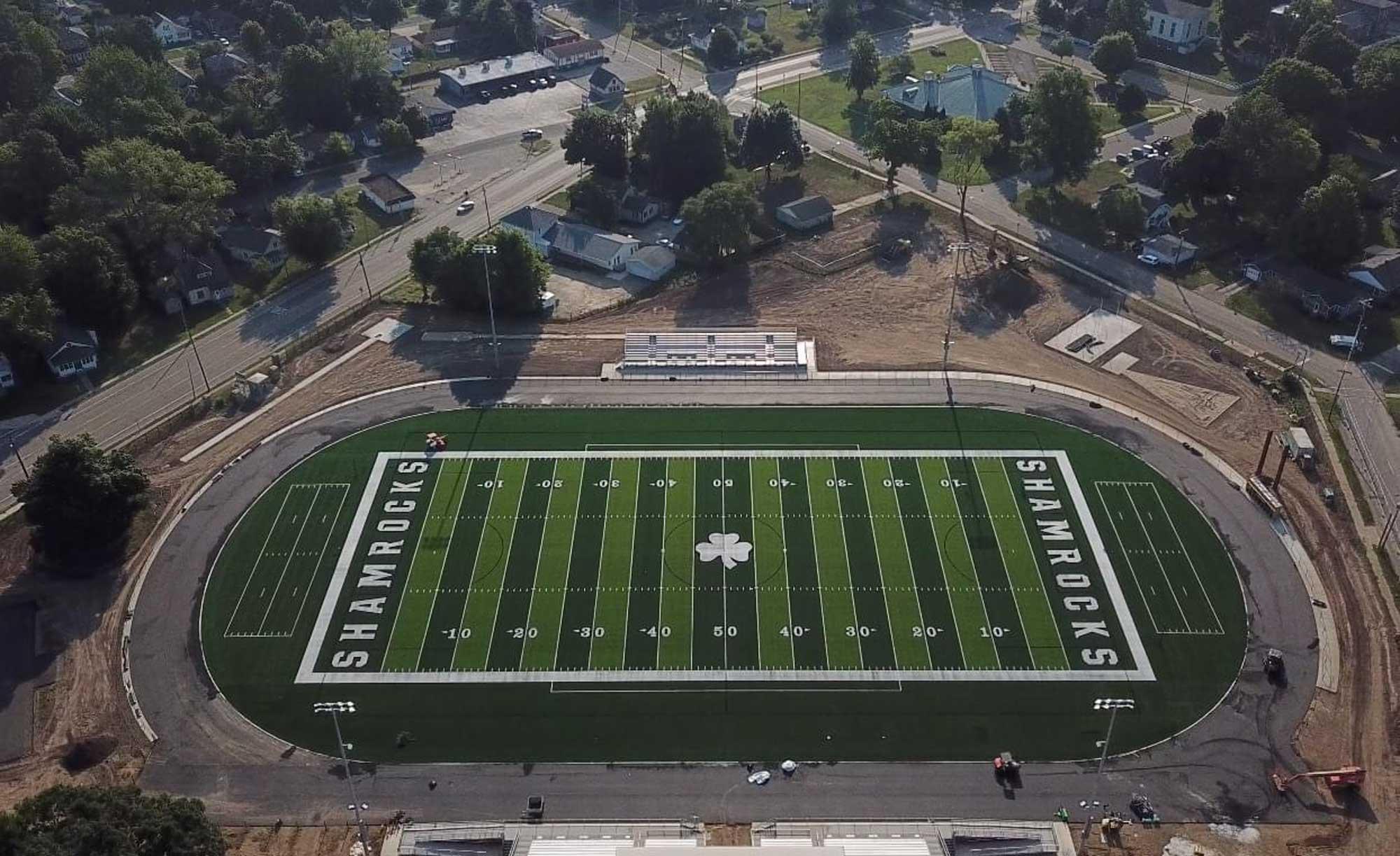 Berrien Springs public school football field