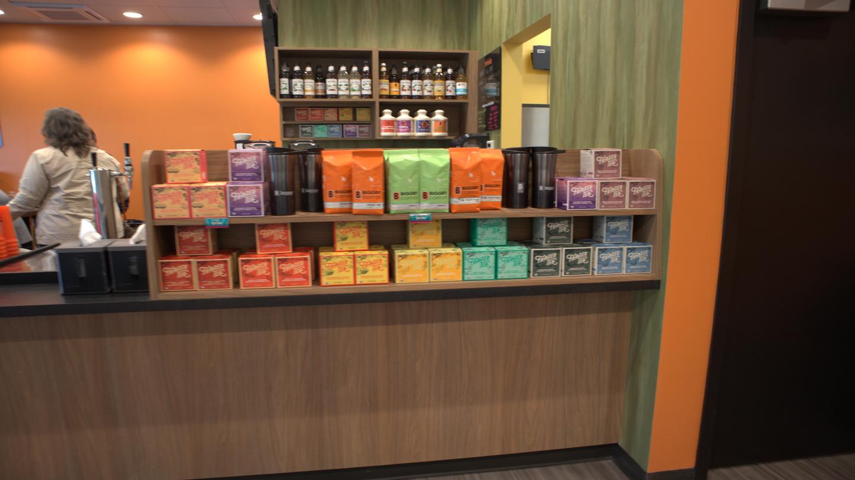 Biggby Edwardsburg Tea Display